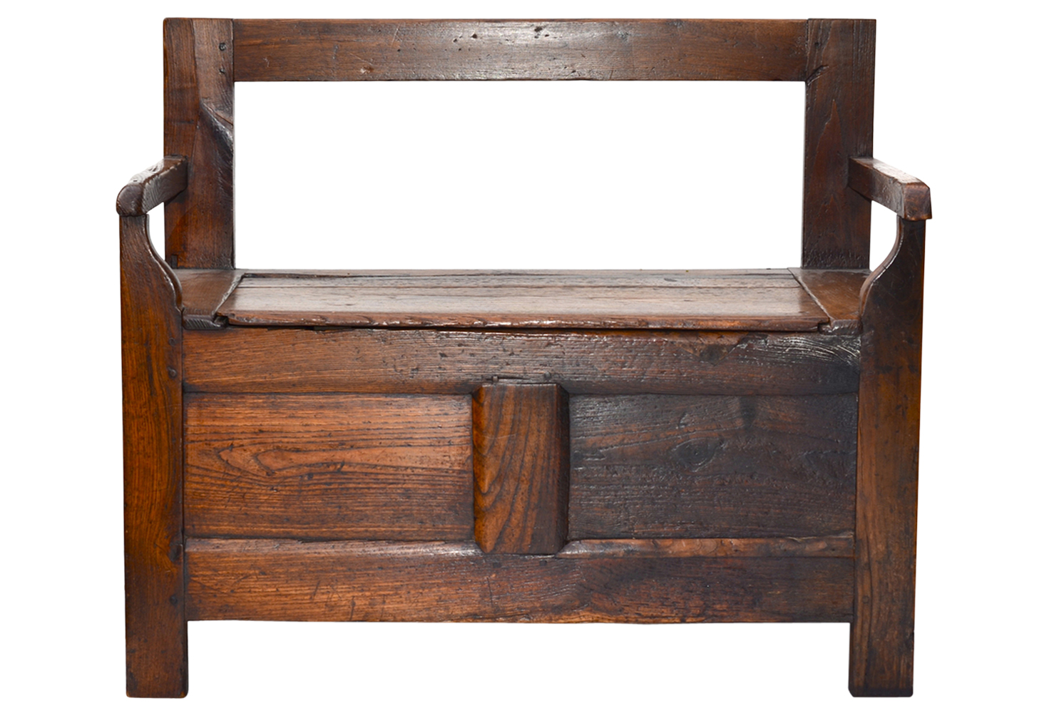 18th C French Oak Country Bench Omero Home