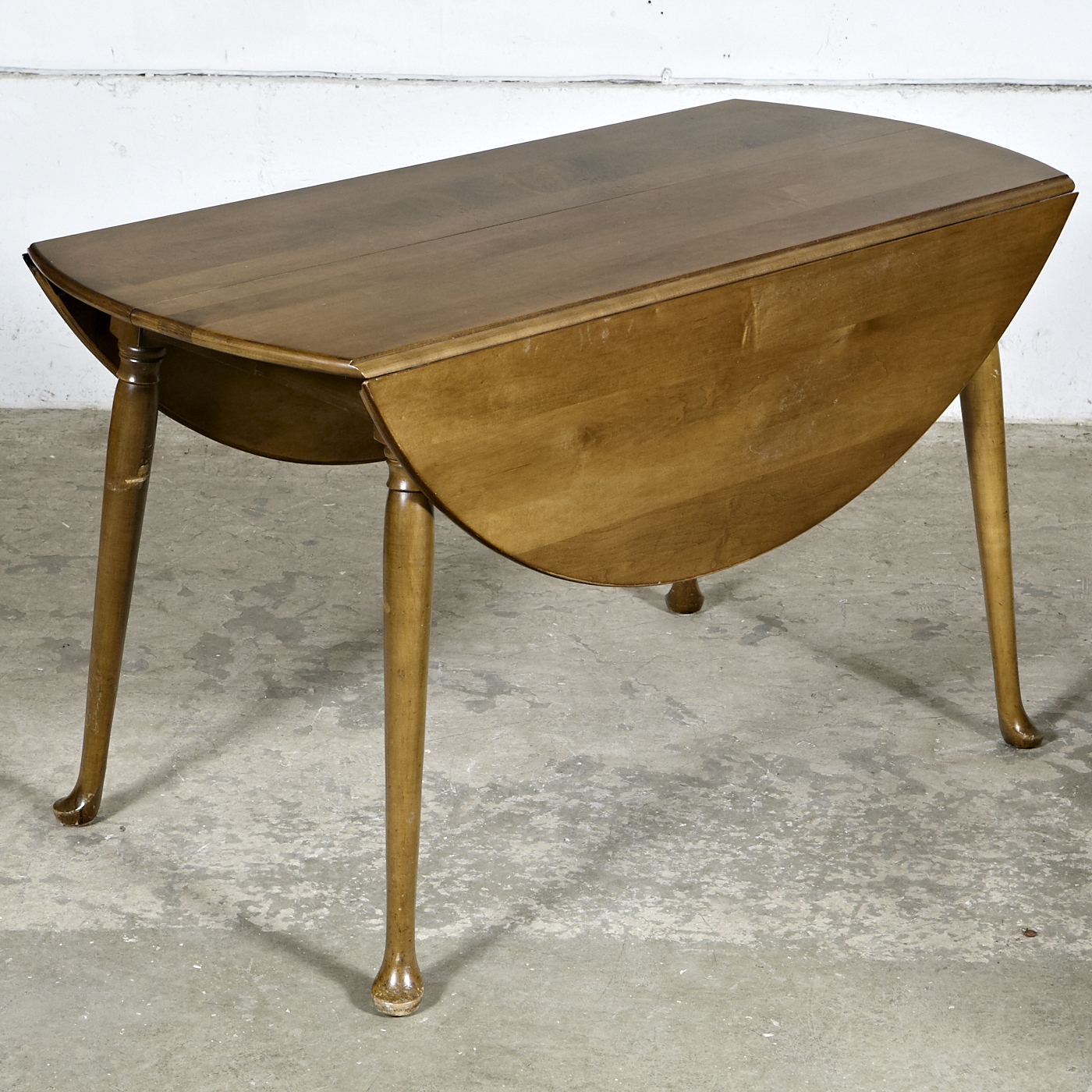 1960s Drop Leaf Round Dining Room Table Omero Home