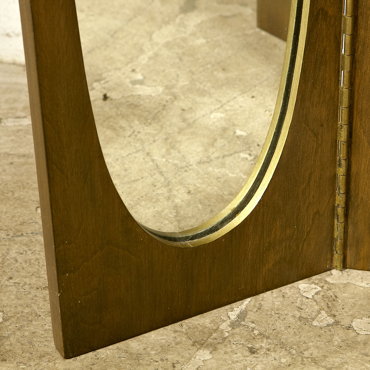 1960s Walnut Vanity Mirror Omero Home