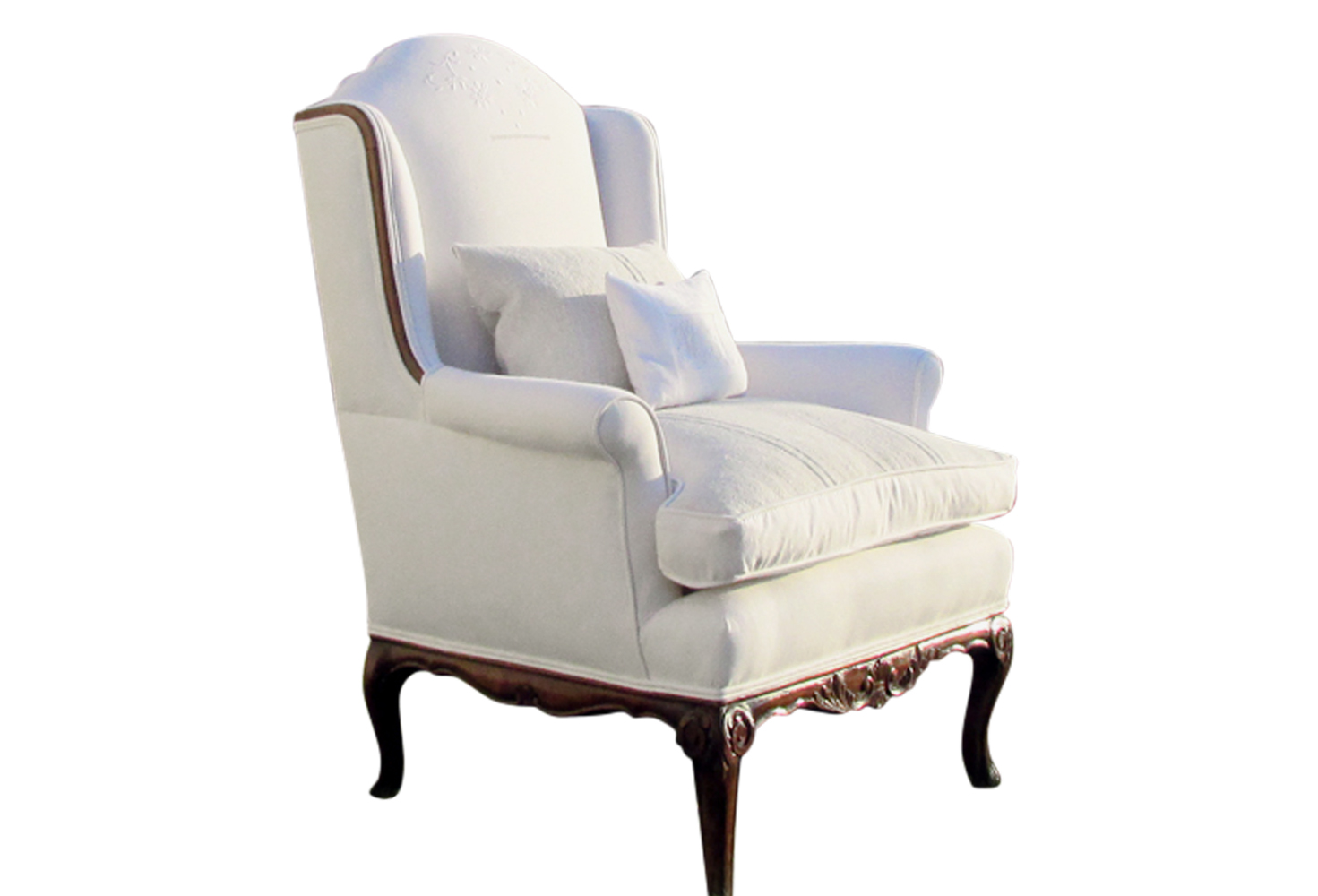white wingback chair. 19th Century French Wing Back Chair White Wingback O