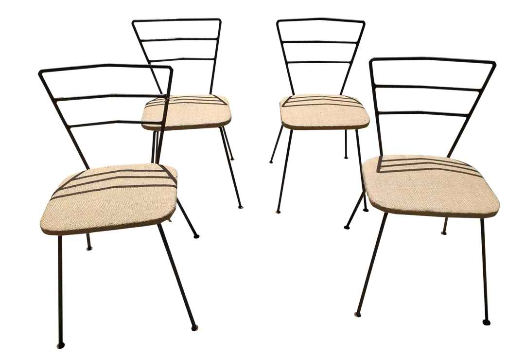 4 industrial dining chairs omero home