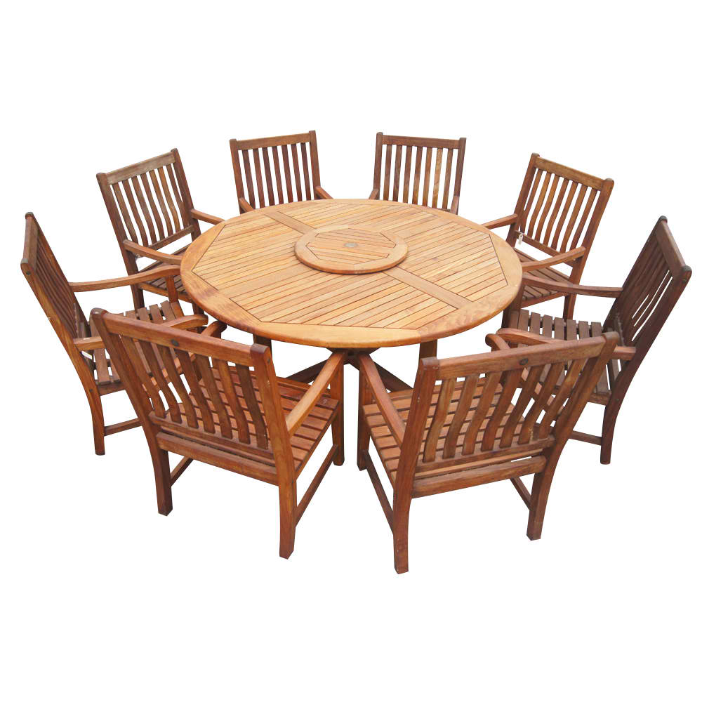 Classic Vintage Round Dining Table In Teak Omero Home - Round dining tables for 6