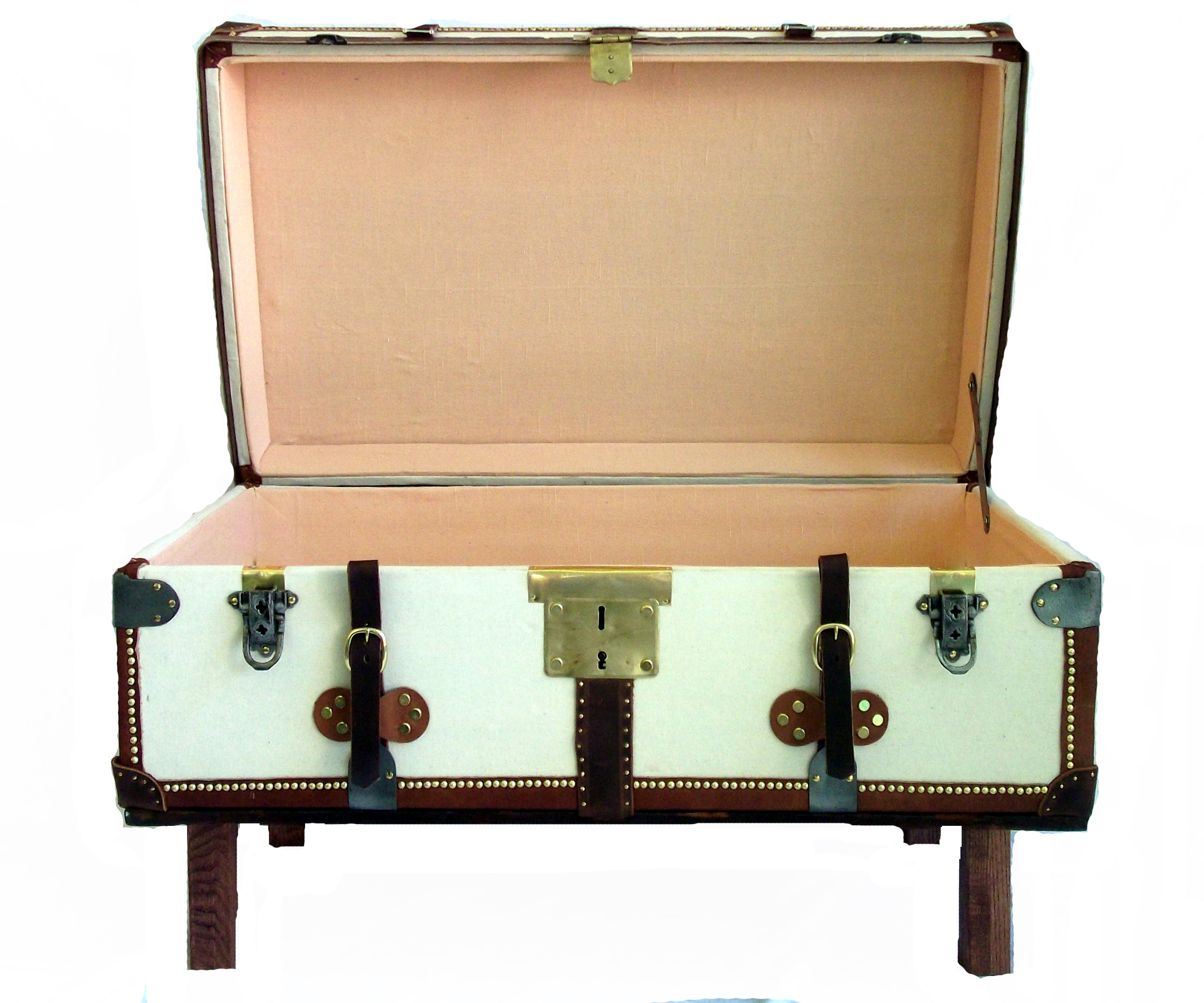 French Antique Trunk Coffee Table