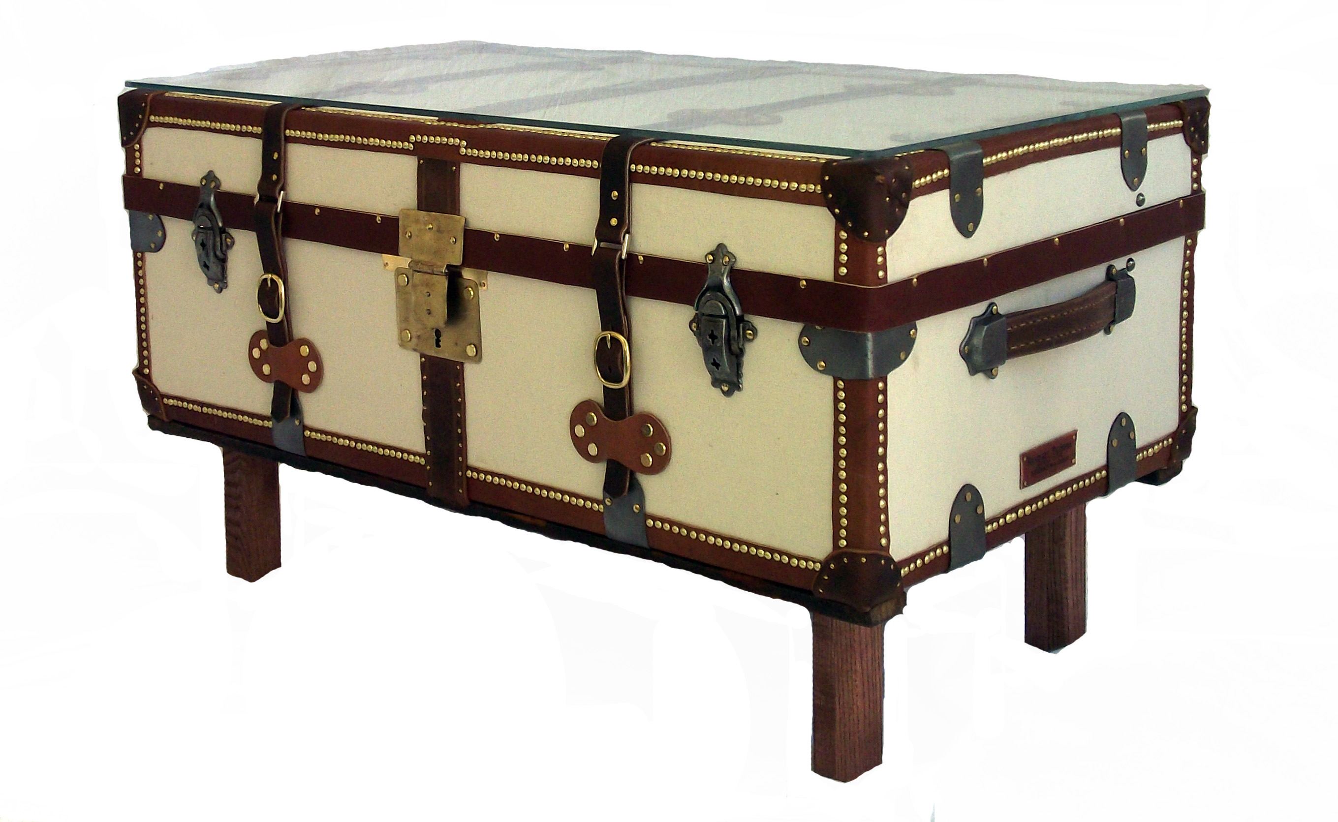 French antique trunk coffee table omero home - Trunk style coffee tables ...