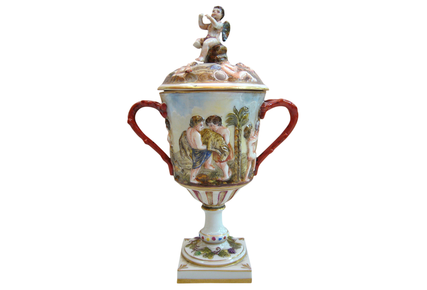 Antique Capodimonte Jar 1800 Omero Home