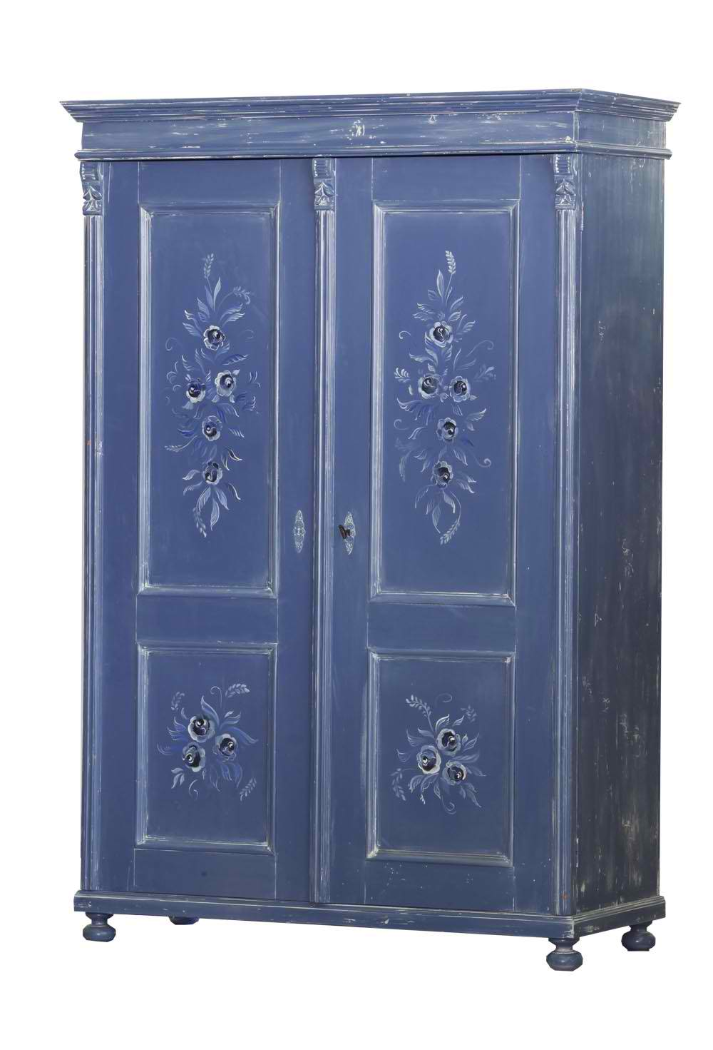Blue Painted Armoire