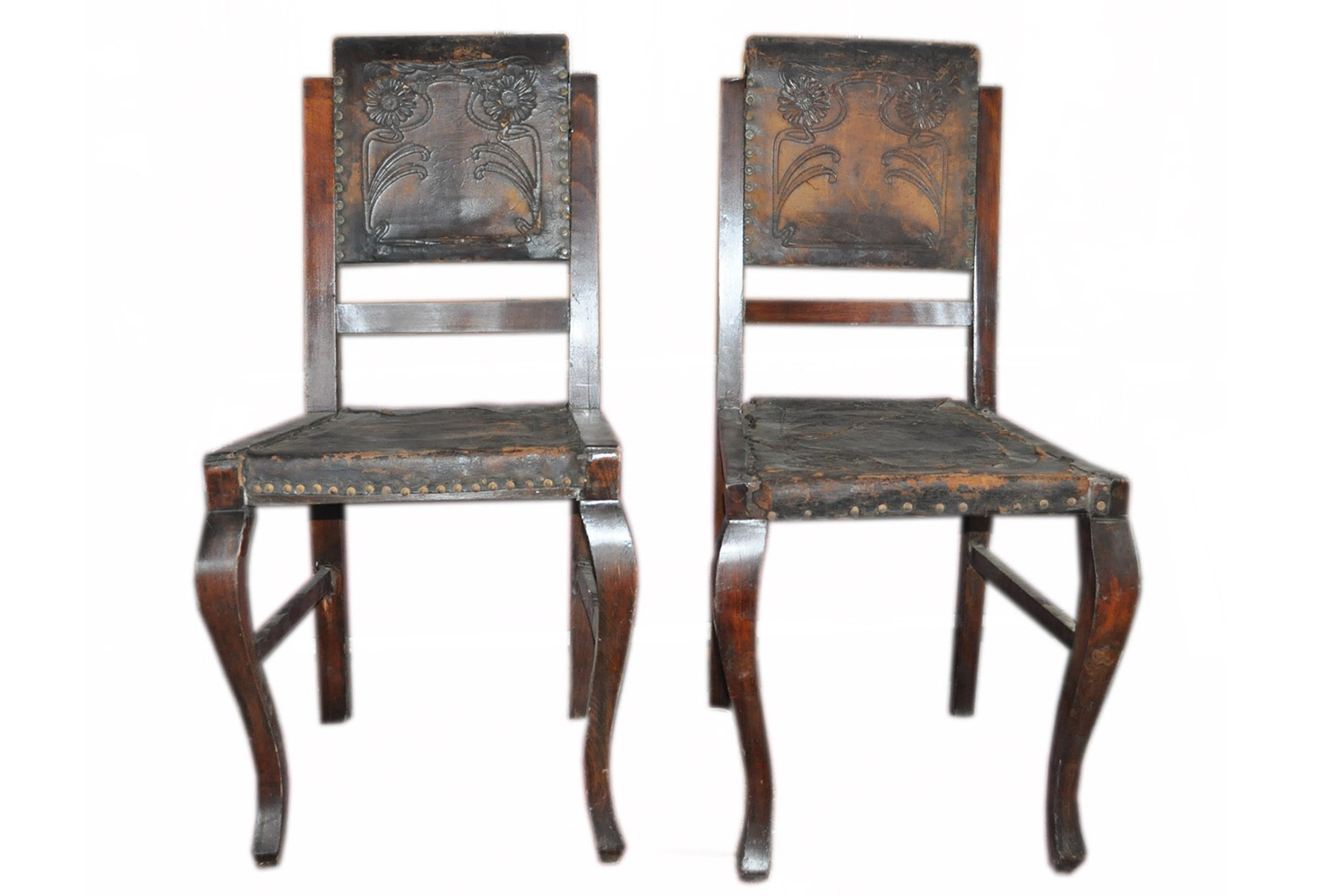 Antique Embossed Leather Dining Chairs Pair Omero Home : antique embossed leather dining chairs pair from www.omerohome.com size 1471 x 1000 jpeg 172kB