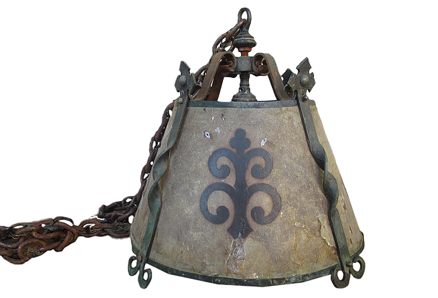 Antique french fleur de lis forged iron chandelier omero home antique french fleur de lis forged iron chandelier mozeypictures Image collections