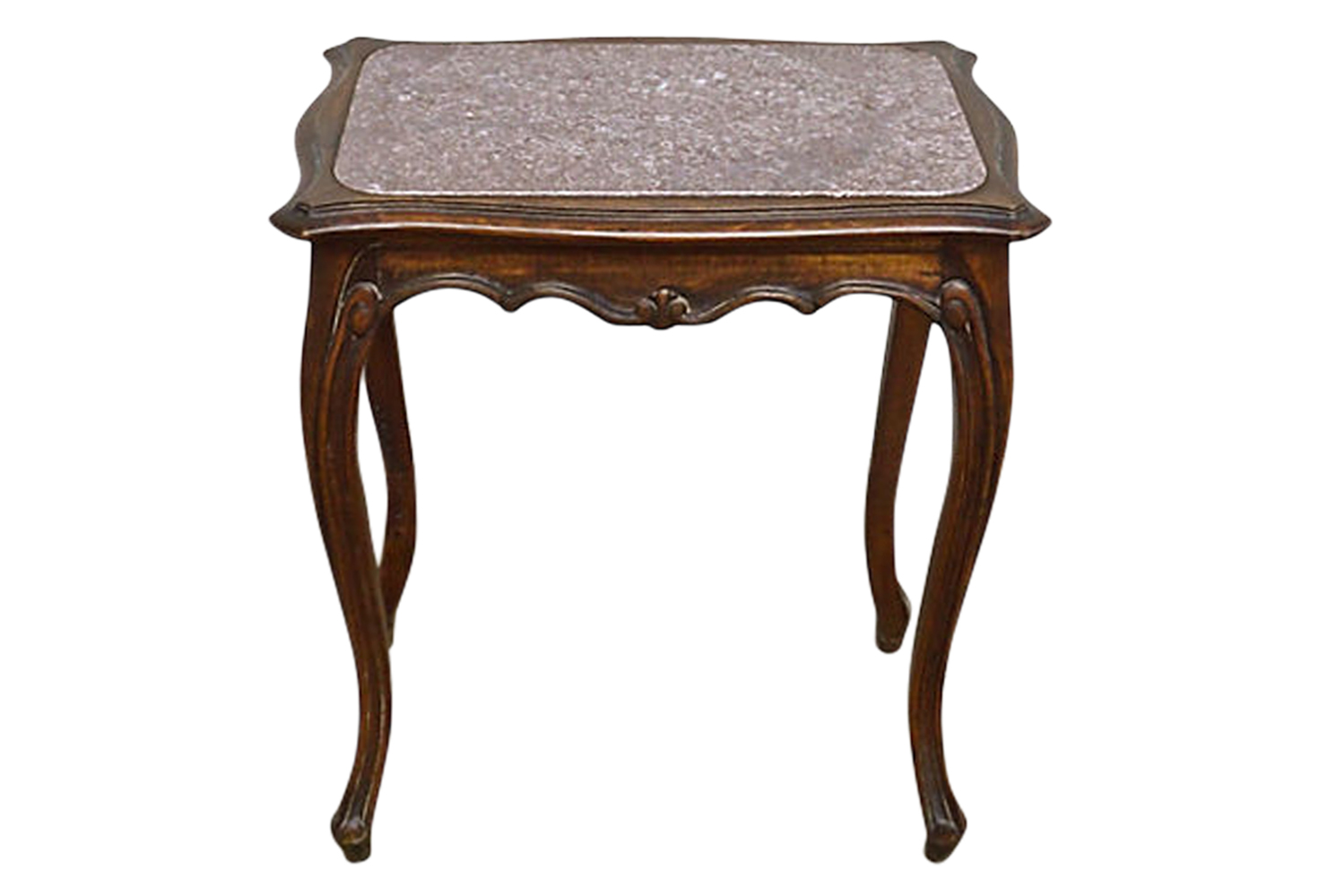 Beau Antique French Granite Side Table