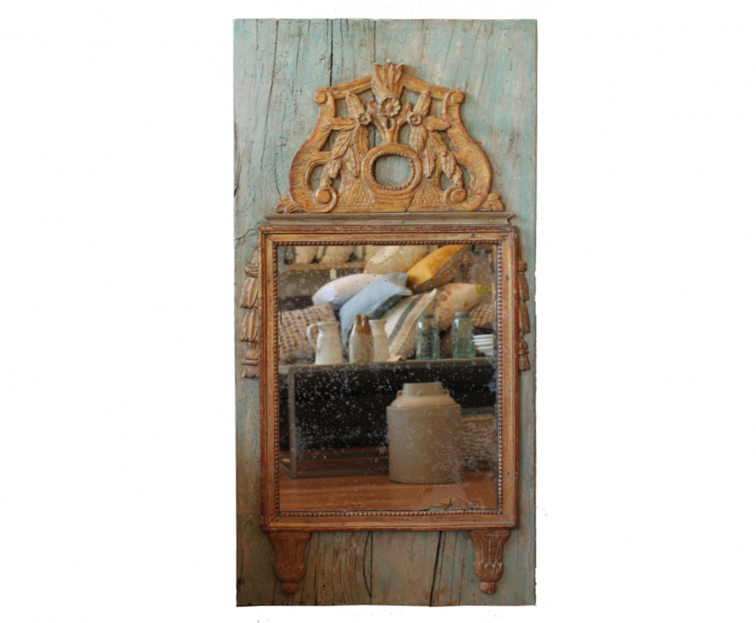18 century antique french mirror omero home for Antique french mirror