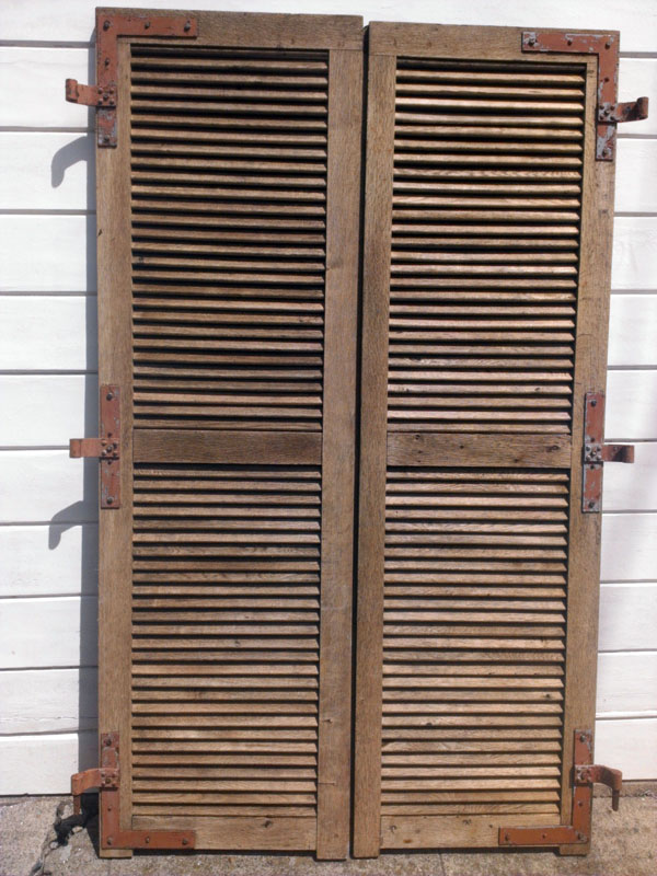 Antique french oak shutters omero home for French country shutters