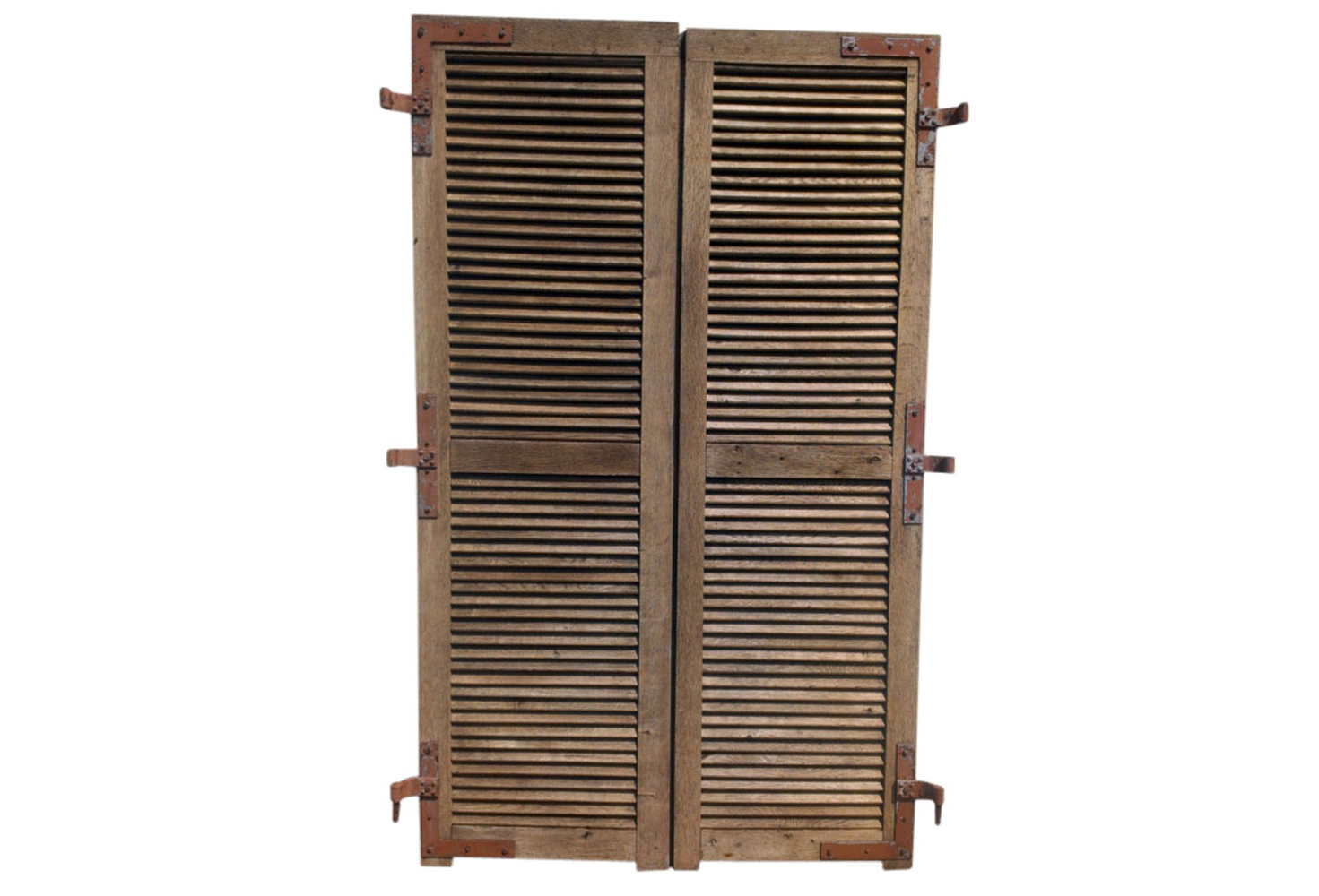 Antique french oak shutters omero home for French country window shutters