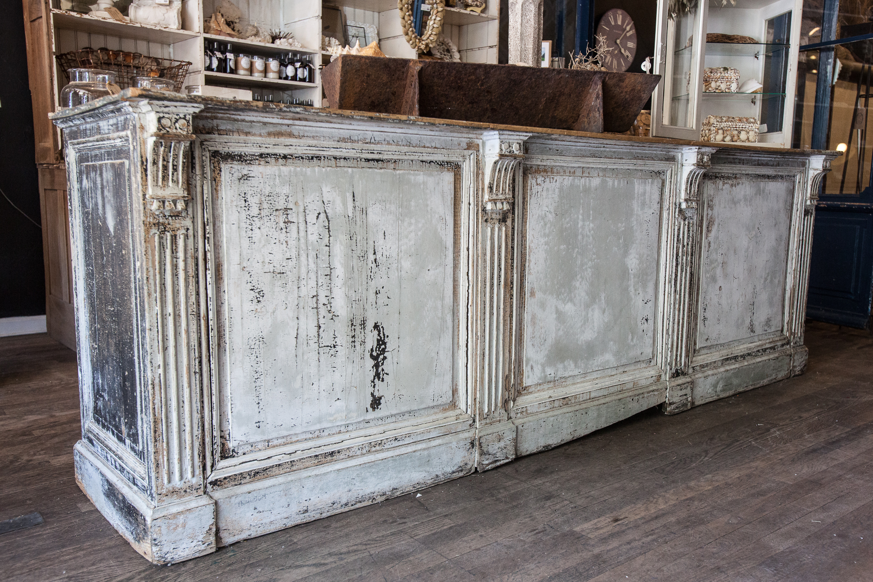 Antique French Store Counter Omero Home