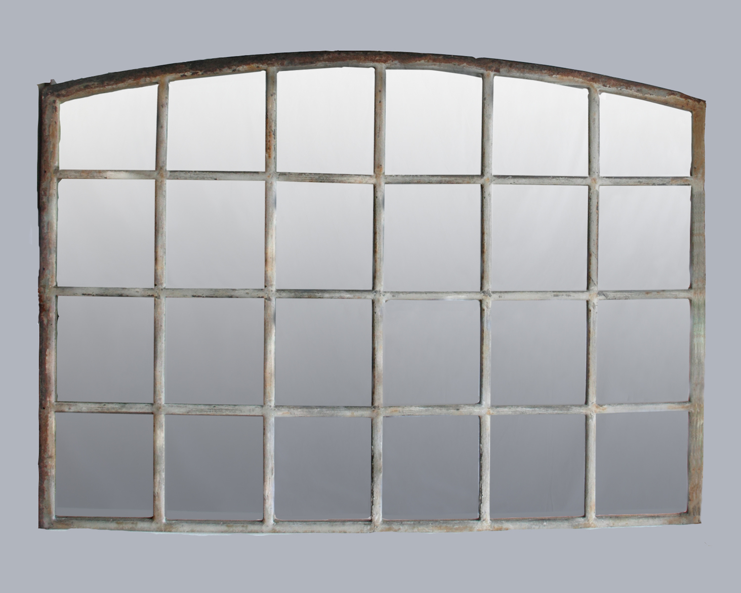 Antique french warehouse window mirror omero home for Window mirror