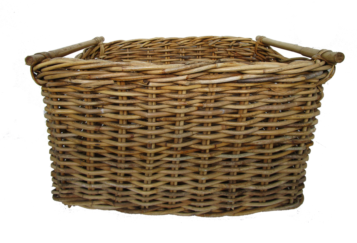 Antique French Willow Harvest Basket Omero Home