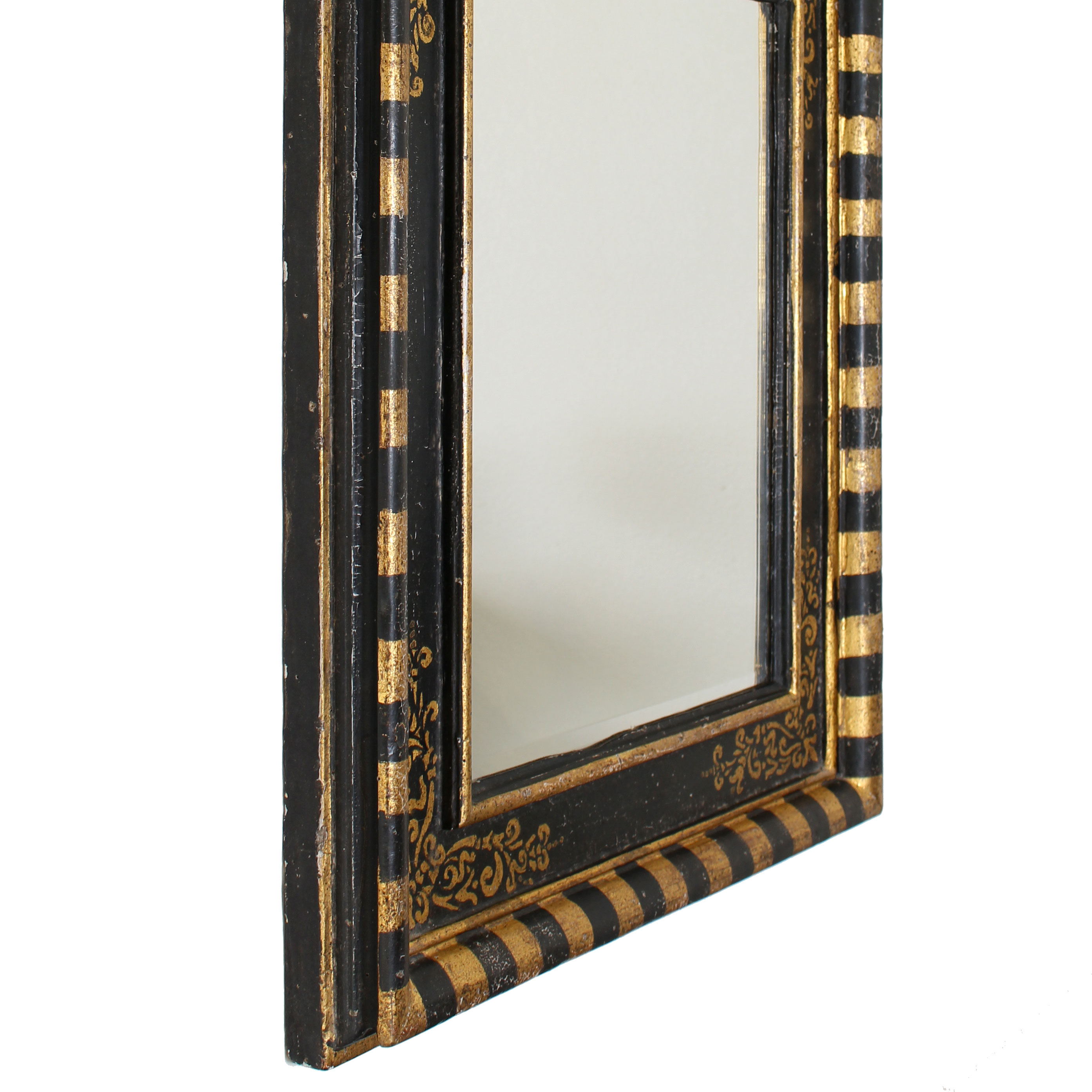 Mirror In Painted Glass Frame