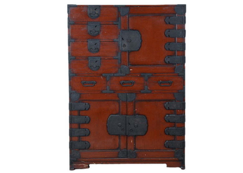 Antique Japanese Tansu Cabinet - Antique Japanese Tansu Cabinet Omero Home