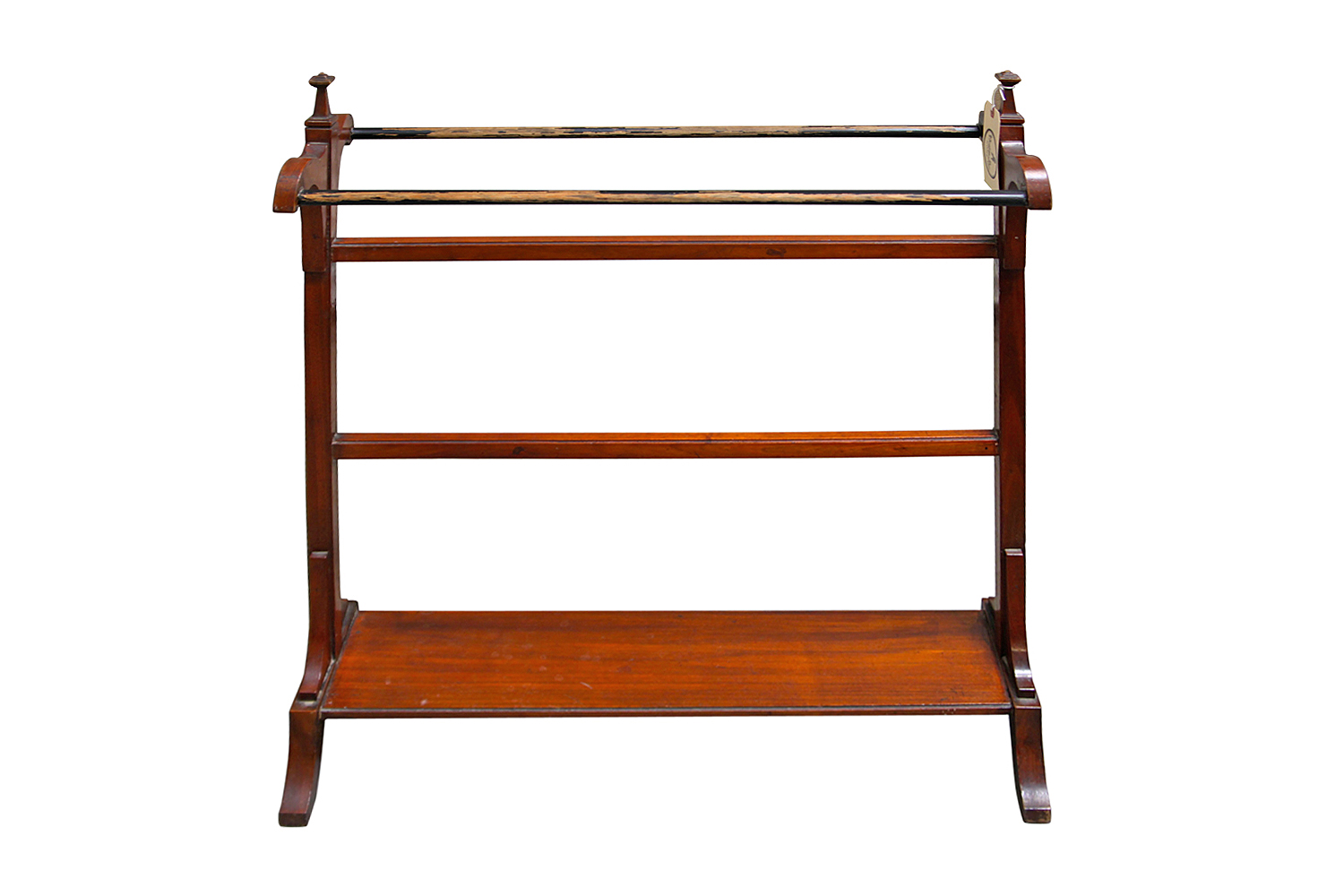 Antique Mahogany Wood Towel Rack. Antique Mahogany Wood Towel Rack   Omero Home