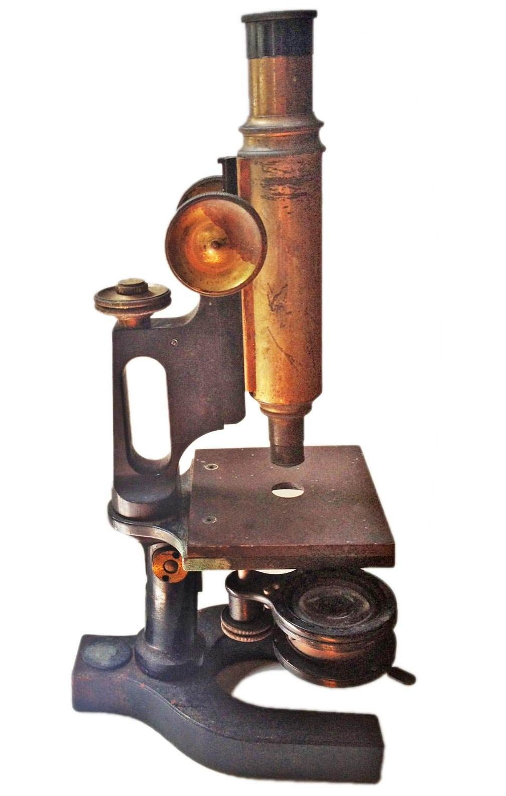 antique microscope omero home