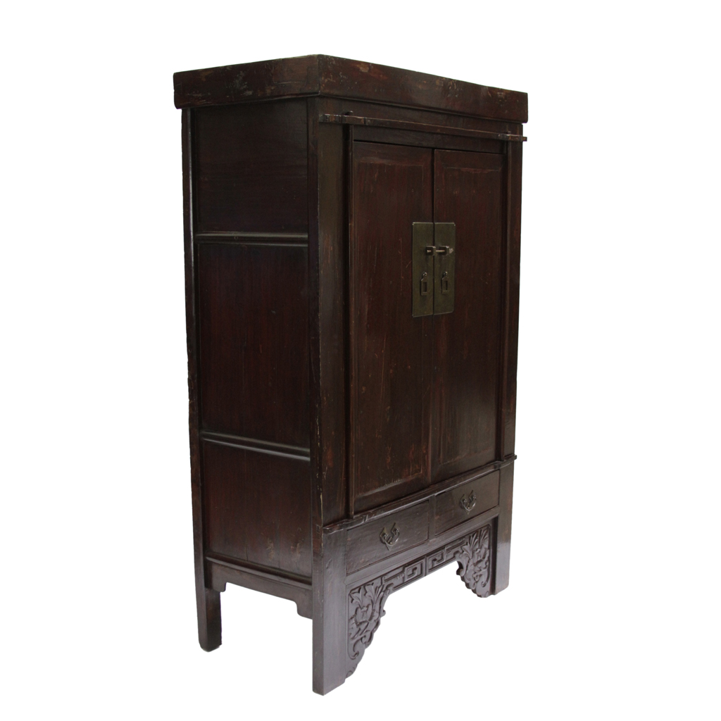 antique ming style chinese armoire omero home. Black Bedroom Furniture Sets. Home Design Ideas