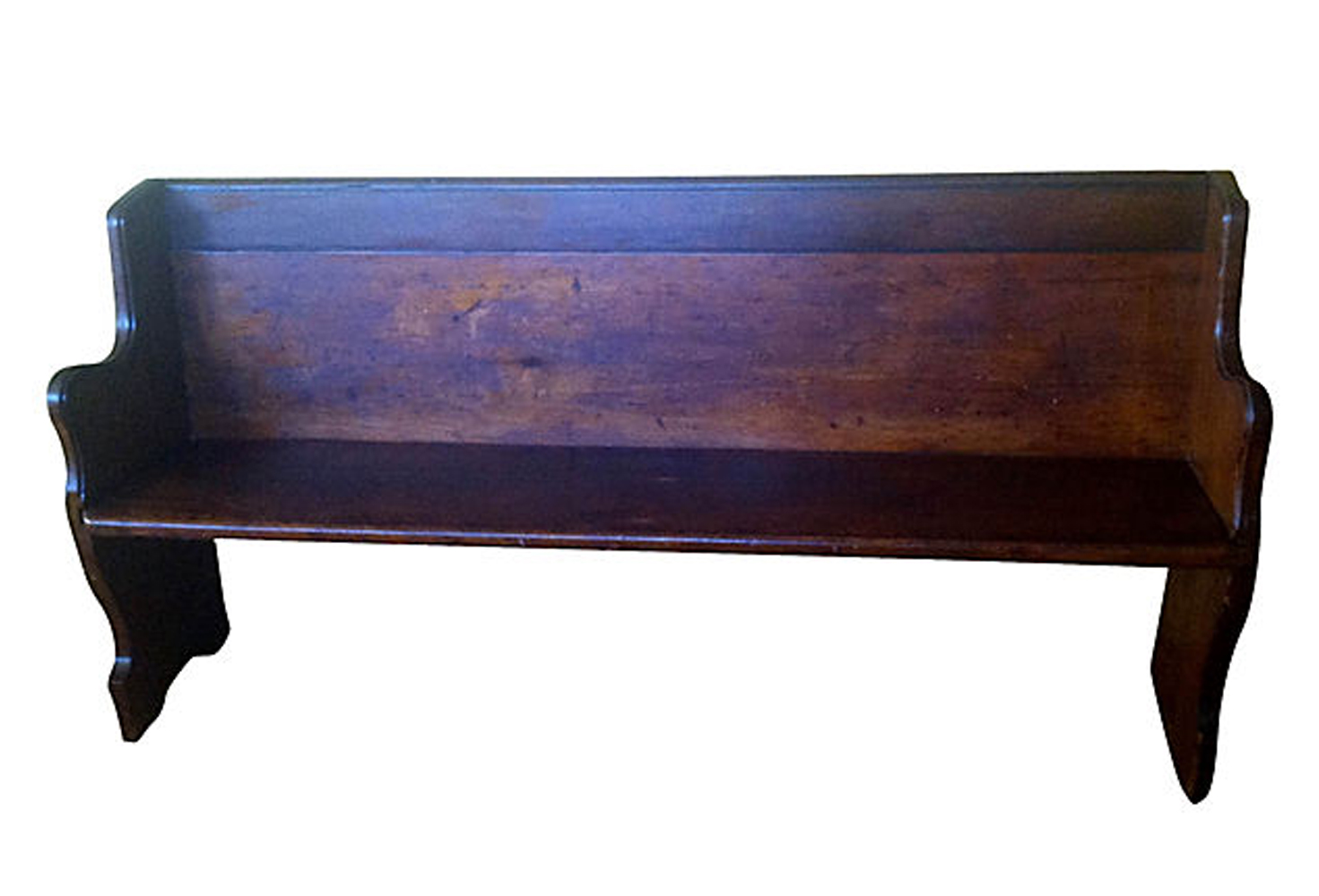 Antique New England Church Pew Omero Home