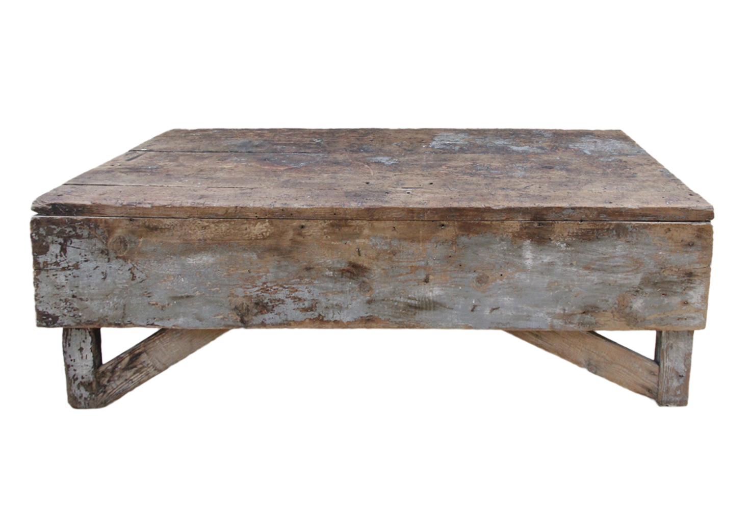 Antique Plank Farmhouse Coffee Table Bench Omero Home