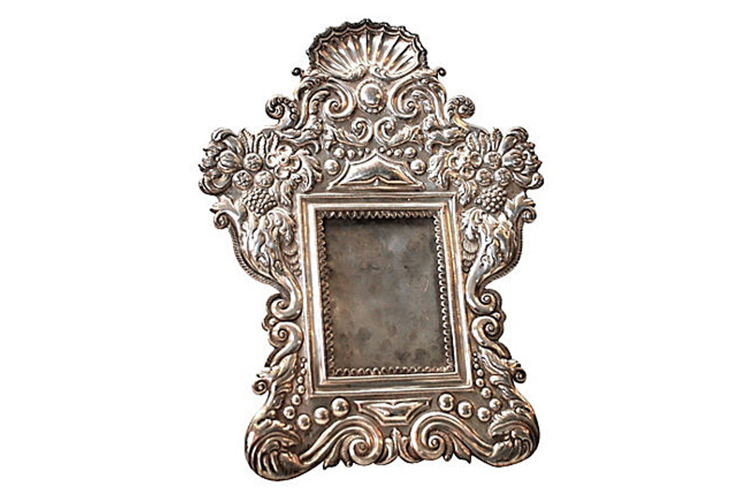 Antique Silver Peruvian Frame | Omero Home