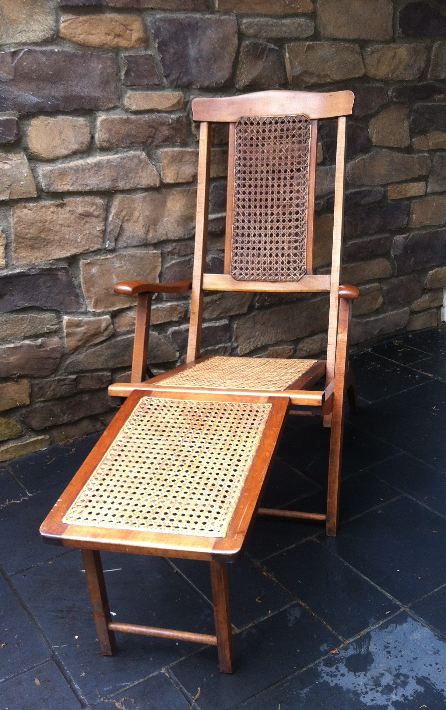 Antique Steamer Deck Chair