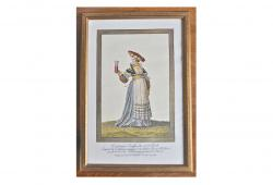 1790 Swiss framed etching.