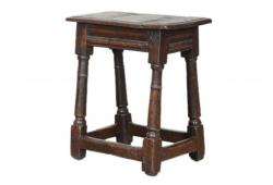 17th Century English Joint Stool