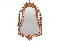1850's Carved French Rococo Mirror