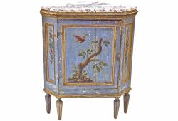 18th C. Hand Painted Corner Cabinet