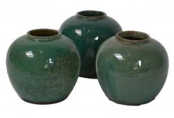 1920s Glazed Ceramic Ginger Jars