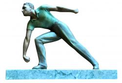 1930's French sport sculpture