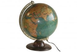 "1934 Replogle 12 "" Terrestrial Library Glass Globe"
