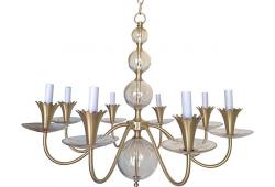 1950s Bubble Glass Chandelier by Lightolier