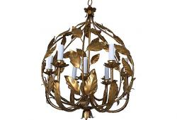 1950s Italian Gilt Fig Chandelier