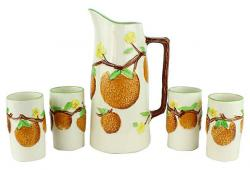 1960s Napcoware Juice Set, S/5