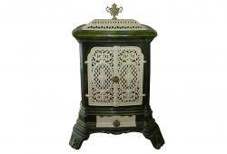 19th C Enamel Heater