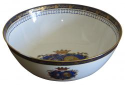 19th C Hand Painted Armorial Bowl