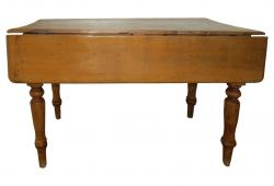 19th C Pine Drop Leaf Table