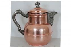 19th-C. Copper & Pewter Coffee Pot