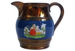 19th C. English Lustreware Pitcher