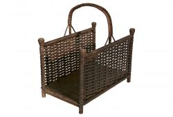 19th-C. English Wicker Handled Rack
