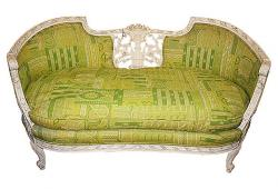 19th-C. French Carved Loveseat