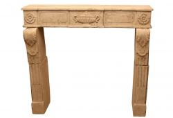 19th C. Limestone Fire Surround