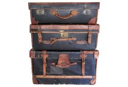 19th Century English Leather Luggage Collection