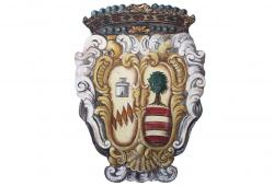 19th Century Painted Italian Crest