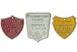 3 French Dog Show Award Plaques