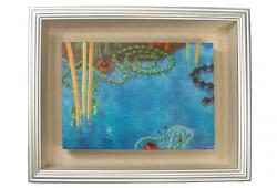 Abstract Composition with Pearls by Gladys Poorte, Framed